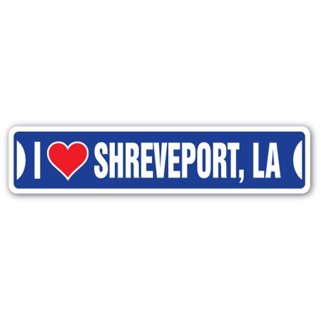 I LOVE SHREVEPORT, LOUISIANA Street Sign la city state us wall road décor gift for $<!---->