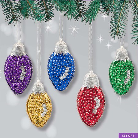 Sunrise Craft & Hobby™ Festive Holiday Bulbs Ornament Kit (Easy Holiday Crafts)