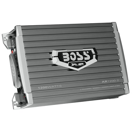 1200 Watt 2 Channel (BOSS Audio AR1200.2 Armor 1200 Watt, 2 Channel, 2/4 Ohm Stable Class A/B, Full Range, Bridgeable, MOSFET Car Amplifier with Remote Subwoofer Control )