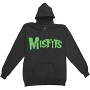 Misfits Men's  Jarek Skull Zippered Hooded Sweatshirt Black