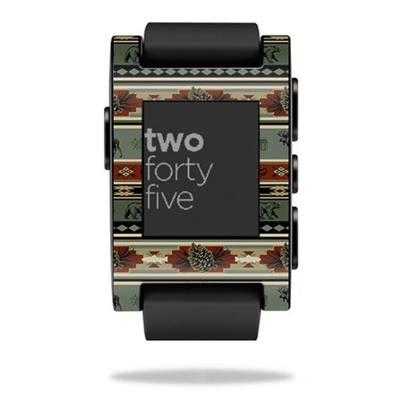 MightySkins Skin Compatible With Pebble Smart Watch – Cabin Stripes | Protective, Durable, and Unique Vinyl Decal wrap cover | Easy To Apply, Remove, and Change Styles | Made in the (Best Rubik's Cube In The World)