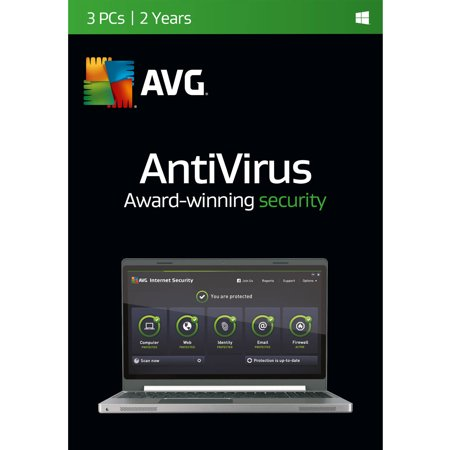 Avg Antivirus Software  3 Users 2 Year