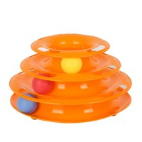 Cat Toys Tower of Tracks 3 Level Cat Tracks Interactive Ball Toy