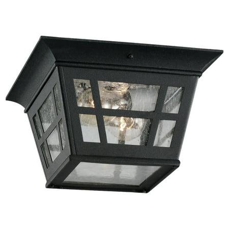Outdoor Flush Mount Ceiling Fixture - Sea Gull Lighting 78131 Herrington 2-Light Outdoor Flush Mount Ceiling Fixture