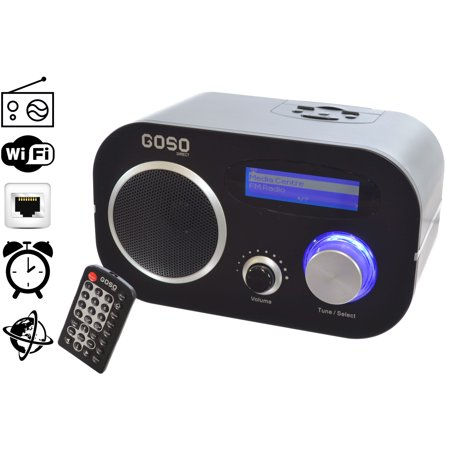 goso internet fm radio music player alarm clock wifi ethernet 1400 stations. Black Bedroom Furniture Sets. Home Design Ideas