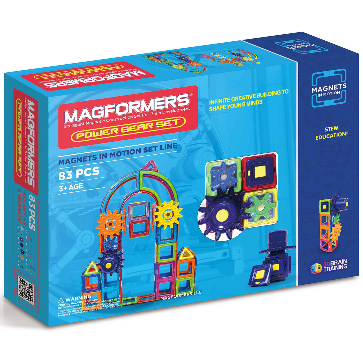 Magformers Magnets in Motion Power 83-Piece Magnetic Construction Set by Magformers