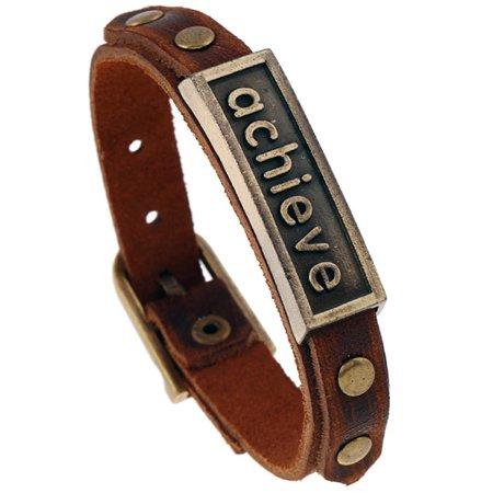 WALFRONT Fashion Men Woman Faux Cowhide Leather Retro Bracelet Simple Jewelry Accessory,Bracelet, Retro Bracelet - image 1 of 1