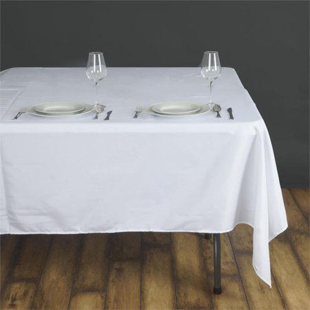 "BalsaCircle 90"" x 90"" Square Polyester Tablecloth Table Covers for Party Wedding Reception Catering Dining Home Table Linens"
