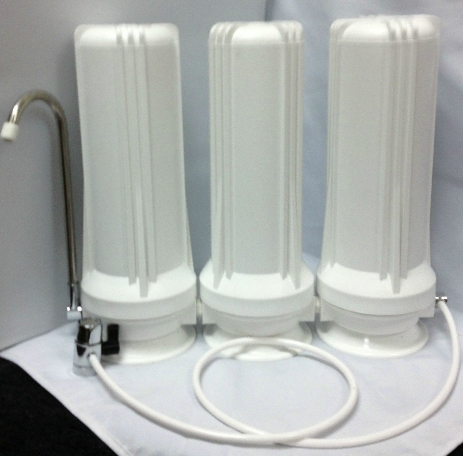 Premier Triple Counter Top Water Filter with Sediment/Carbon block /GAC filter