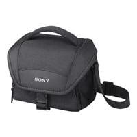 Sony LCS-U11 - Case for digital photo camera / camcorder - black - for Cyber-shot DSC-HX80, WX500; Handycam HDR-CX450, CX455, CX485, CX675, PJ210, PJ675; a6300