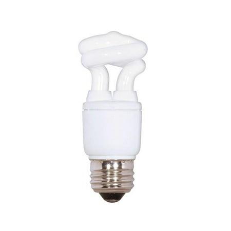 Satco S7261 - 5 Watt CFL Light Bulb T2 - 30W Equal - 2700K Warm