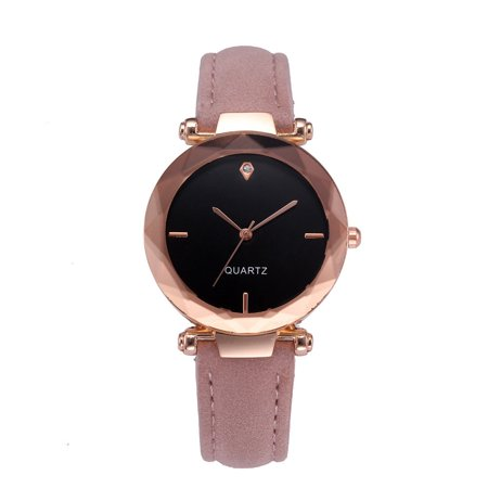 Outtop Fashion Women Leather Casual Watch Luxury Analog Quartz Crystal Wristwatch