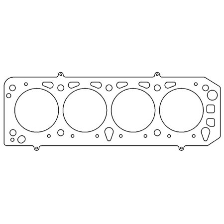 Cometic Gasket C4350-070 Cylinder Head Gasket MLS For Use With Ford 2.0L DOHC YB Group A; 92.5 Millimeter Bore; 5 Layer Stainless Steel; 0.070 Inch Compressed Thickness; Single - image 1 de 1