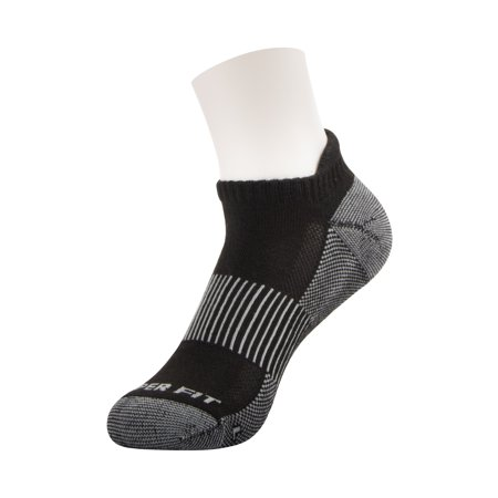 Copper Fit Low Cut Sport Socks Socks with Ankle Tab, Unisex, Black, 3 Pairs, As Seen on TV