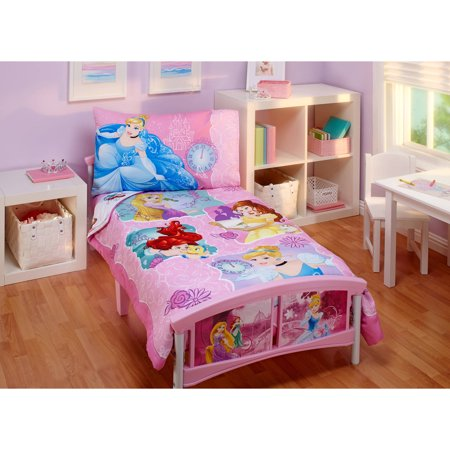 Princess dream big 4 piece toddler bedding set for Walmart bedroom furniture sets