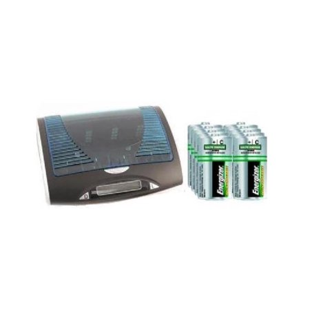 Super Universal LCD Battery Charger + 8 C Energizer Recharge NiMH Batteries (2500 mAh) - image 1 de 1