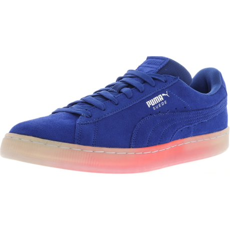 Puma Men's Classic Explosive Suede True Blue / Bright Plasma Ankle-High  Fabric Fashion Sneaker - 10M