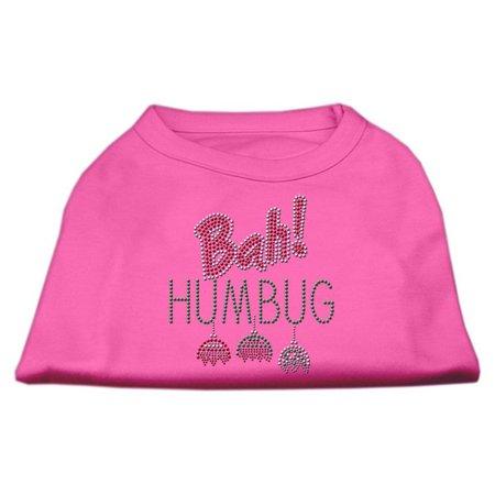 Mirage 52-92 XSBPK Bah Humbug Rhinestone Dog Shirt Bright Pink XS