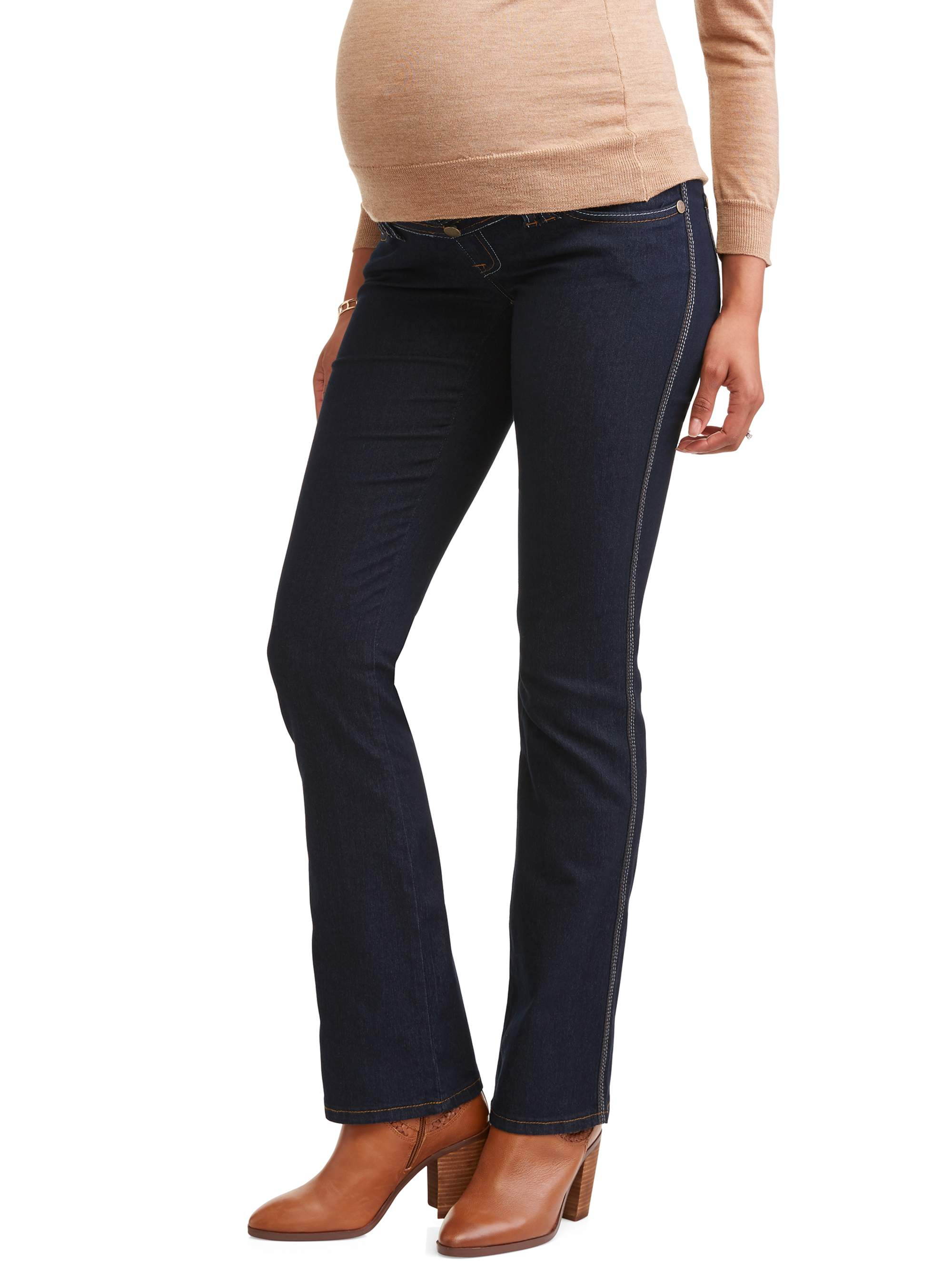 Maternity Full Panel Super Soft Bootcut Jeans - Available in Plus Sizes