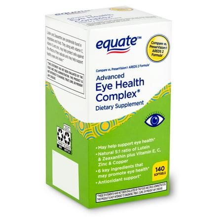 Equate Advanced Eye Health Complex Dietary Supplement, 140 count