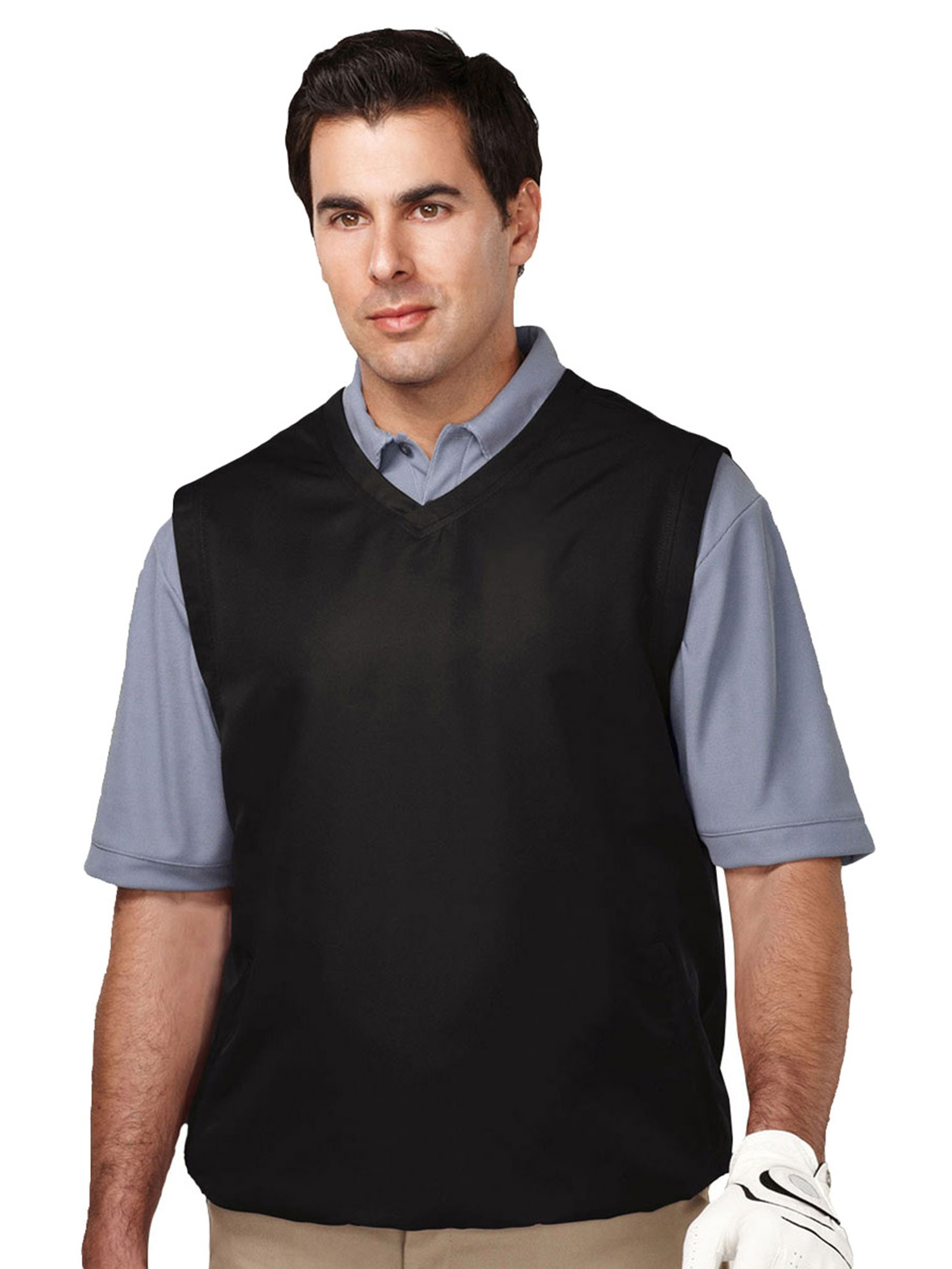 Tri-Mountain Men's Big And Tall V Neck Wind Shell Vest