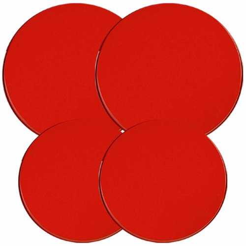 Electric Stove Burner Covers, Set of 4, Red