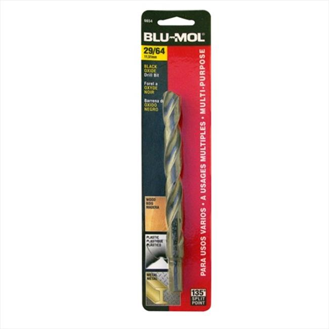 Disston 6654 Blu-Mol 0.45 In. Diameter Black Oxide Jobber Drill Bit