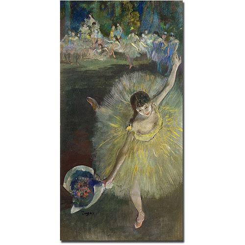 "Trademark Art ""End of Arabesque, 1877"" Canvas Art by Edgar Degas"