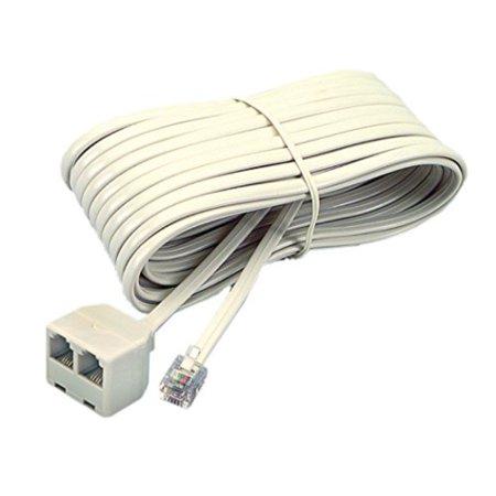 softalk 04130 corded duplex jack 25-feet almond landline telephone