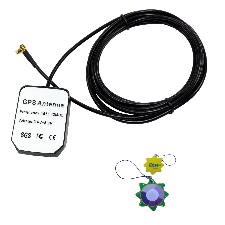 HQRP Amplified External GPS Antenna for Garmin StreetPilot 2820 (010-00517-05) / Garmin StreetPilot 7200 (010-00400-10) / Garmin StreetPilot 7500 (010-00400-20) Antenna Replacement + HQRP UV Meter