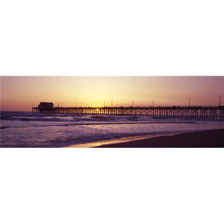 Panoramic Images PPI127291S Pier Over The Ocean At Dusk Newport Pier Newport Beach Orange County California USA Poster Print, 27 x (Orange California Mall)