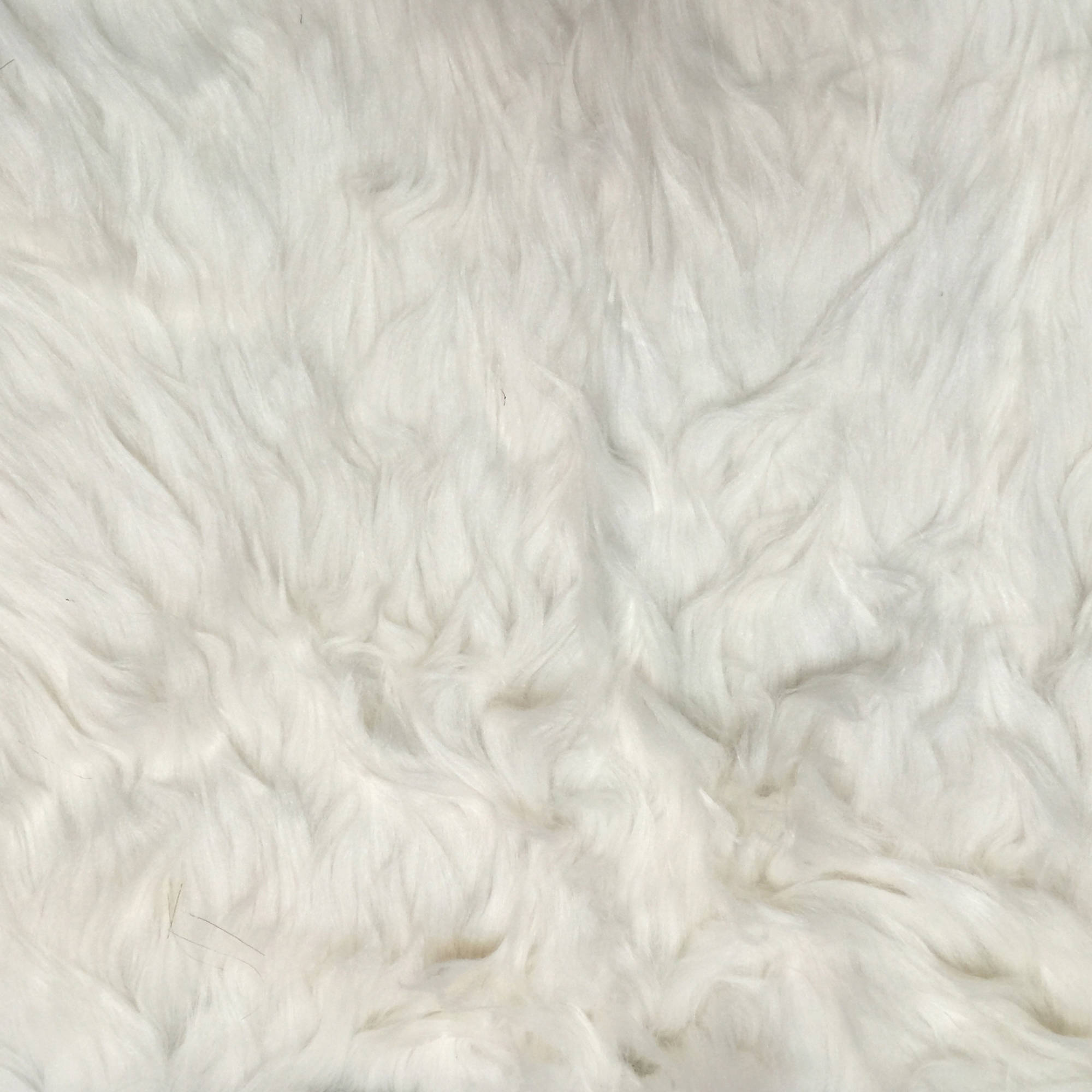 SHASON TEXTILE LUXURY FAUX FUR POLAR BEAR - LONG PILE, IVORY