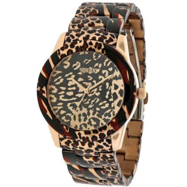 Guess U0425L3 Vixen Rose Gold-Tone Ladies Watch - Leopard...