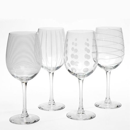 Mikasa Cheers White Wine Glasses, Set Of 4 (Mikasa Fish)