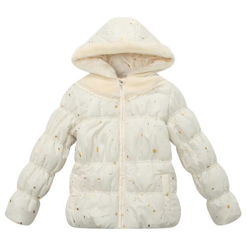 Richie House Girls' Padded Jacket with Little Printed and Hood RH1188