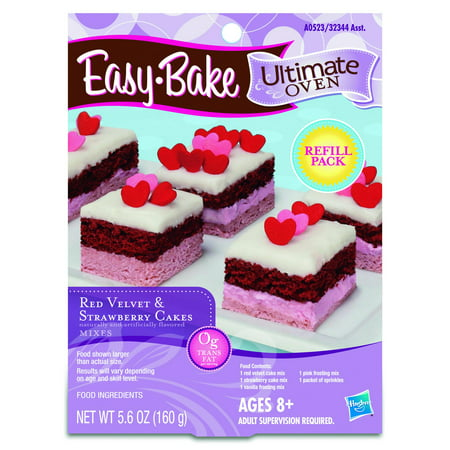 Easy-Bake Ultimate Oven Red Velvet and Strawberry Cakes Refill Pack ()