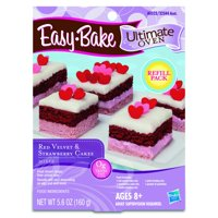 Easy-Bake Ultimate Oven Red Velvet and Strawberry Cakes Refill Pack