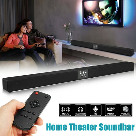 60W 5.1 Channel Home Theater 8 Horn 3D Surround Sound Bar HIFI Wireless bluetooth Stereo Soundbar Speaker Subwoofer + Remote Control for TV/PC/Phones/Tablets/Gaming Machine (Black)