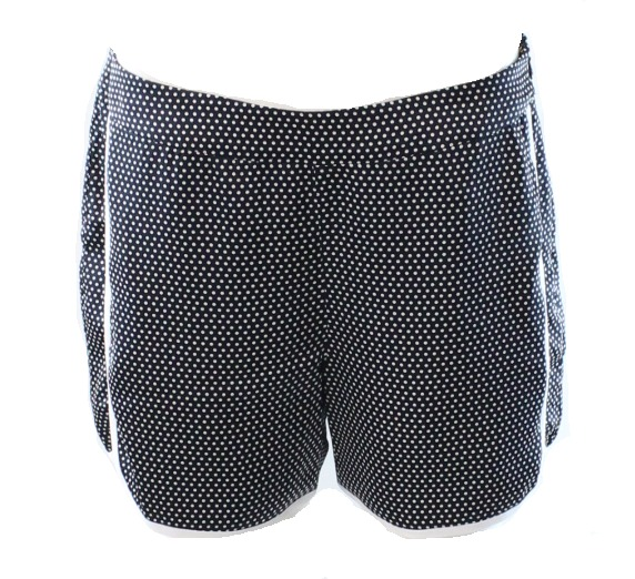Tommy Hilfiger NEW Blue Polkadotted White Women's Size 6 Pipe Trim Shorts $69