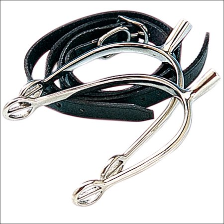 KORSTEEL POW SHOW LADIES SPURS WITH STRAPS 3/4