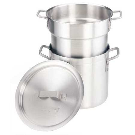 - Crestware 12-Quart Heavy Weight Aluminum Double Boiler with 11 Quarter Inset Capacity