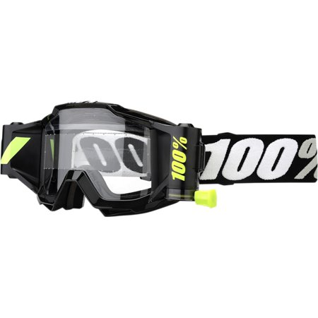 100% Accuri Forecast Torando Youth MX Offroad Goggles Black/Clear Lens