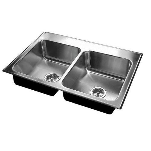JUST MANUFACTURING DL-ADA-1829-A-GR-3, 5.5, DCR Drop-In Sink with Faucet Ledge
