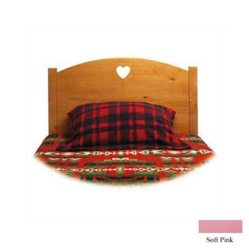 Little Colorado 089SPHT Traditional Twin Headboard - Soft Pink-Heart