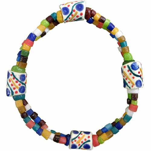 Global Crafts Handmade  Festival Rainbow Bracelet (Ghana)