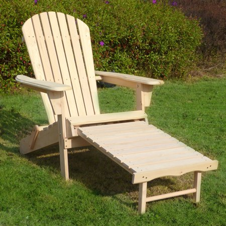 Adirondack Chair Kit with Pullout Ottoman (Reclining Adirondack Chair With Pull Out Ottoman Plans)