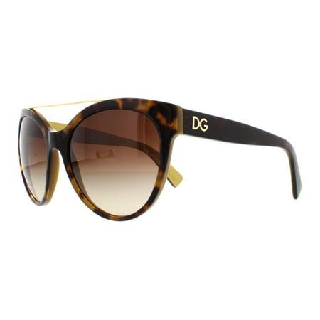 DOLCE & GABBANA Sunglasses DG4280 295613 Top Havana On Gold (Top 10 Sunglasses Brands For Women)