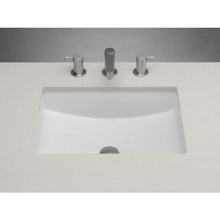 Ronbow 200520 rectangle ceramic undermount bathroom sink with finish white for White rectangular undermount bathroom sink