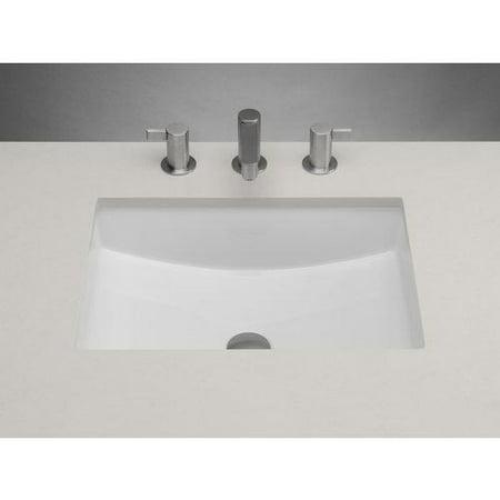 "200520-wh 20"""" rectangle ceramic undermount bathroom sink ..."