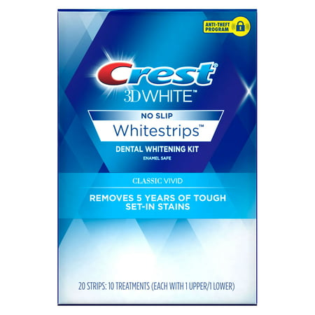 Crest 3D White Whitestrips Classic Vivid Teeth Whitening Kit, 10
